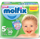 Molfix Jumbo Junior (5) 11 18 Kg 30 Lu