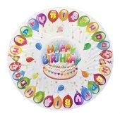 Tabak Karton Happy Birthday 19cm P8 180