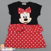 Paty Kids Minnie Baskılı Lüx Penye Elbise 2 3 4...