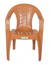 Zigana Plastik Sandalye Hasır Teak