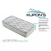 Kupons Ortopedik Aloevera Bebek Yatağı 50x90 Cm 18 Cm Yükseklik