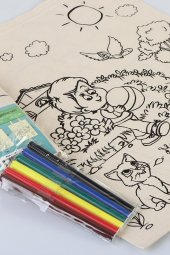 Bammerz Ayçiçek Çocuk Omuzdan Askılı Boyanabilir Bez Çanta - Kale-2