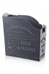 Gri Rengi 4li Plastik Eko Paris Organizer
