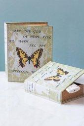 Kelebekli Kitap Şeklinde 2li Kutu