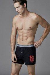Eros Erkek Siyah 2li Penye Boxer Külot 037