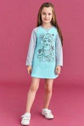 Roly Poly Kız Çocuk Cam Göbeği Penye Gecelik 4032