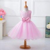 Kız Çocuk Özel Tasarım Payetli Pembe Abiye Prenses Model Elbise Doğum Günü Abiye Elbise