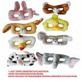 Peluş Hayvanlı Göz Maskesi Yıkanabilir Maske