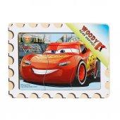 şimşek Mcqueen Puzzle Woody Cars 3 Parça Ahşap Puzzle