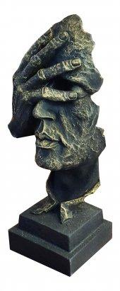 Polyester Maske Gözler Kapalı Biblo Gold Renk