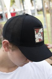 DeepSEA Çerçeveli Tilki Desen Ayarlanabilir Boyut Fileli Şapka 1908790-2