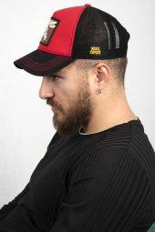 DeepSEA Çerçeveli Tilki Desen Ayarlanabilir Boyut Fileli Şapka 1908790-4