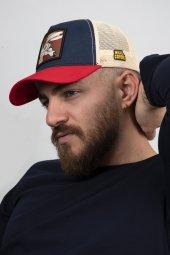 DeepSEA Çerçeveli Tilki Desen Ayarlanabilir Boyut Fileli Şapka 1908790-10