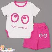 Cool Baby Göz Baskılı Lüx Takım 1 2 3 Yaş