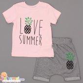 Cool Baby Love Summer Baskılı Lüx Takım 1 2 3...