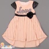 Beniz Kids Love Pullu Lüx Elbise 1 2 3 4 Yaş