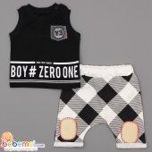 Beboo Baby Boy Zero Baskılı Lüx Takım 3 6 12 18 Ay