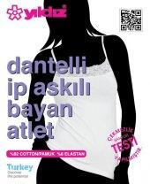 Yıldız Dantelli İp Askılı Bayan Atlet 2139