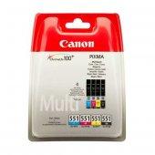 Canon Clı 551 Cmy Bk Multi Paket 4 Renk Orijinal Kartuş