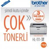 Brother Hl 1111 Lazer Yazıcı 3 Tam Dolu Tonerli...