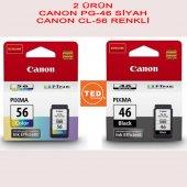 CANON PG-46 CL-56 SİYAH/RENKLİ KARTUŞ SET E404 E414 E464 (2 ürün)-3
