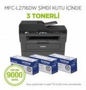 Brother Mfc L2716dw 3 Orijinal Tonerli Siyah Beyaz Çok Fonksiyonlu Lazer Yazıcı,tarayıcı,fax,wi Fi