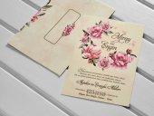 Çiçekli Düğün Davetiyesi 100 Adet-2