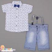 Terry Kids Yaprak Desenli Gömlek Kapri Takım 5 6 7 8 Yaş