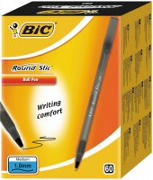 Bic Round Stic Tükenmez Kalem Siyah 60lı Paket