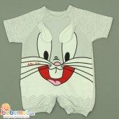 Million Baby Tavşan Model Tulum 0 3 6 9 Ay (Gri)