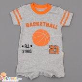Necixs Baby Basketball Baskılı Lüx Tulum 0 3 6 9 Ay