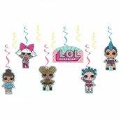 6lı Lol Bebek Konsepti Yaylı Uzar Set, Lol Surprise Bebekleri Süs