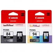 Canon Pg 84, Cl 94 E514 Siyah Ve Renkli...