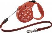 Flexi Flamingo Otomatik Kırmızı İp Köpek Tasması M...
