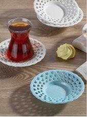 çay Tabağı 6 Lı Plastik Renkli