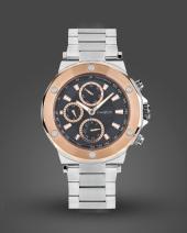 İ-Watch 5243.C6 Roze Çerçeve Detaylı Spor Erkek Kol Saati