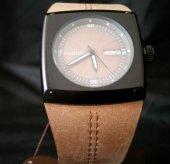 İ-Watch 55395 Siyah Köşeli Kasa Kahverengi Kayış Spor Kol Saati