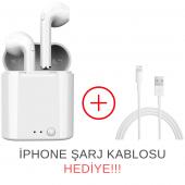 i7 TWS Mini Bluetooth 5.0 Kablosuz Kulaklık Apple İphone Samsung iOS Android Uyumlu-2