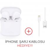 i7 TWS Mini Bluetooth 5.0 Kablosuz Kulaklık Apple İphone Samsung iOS Android Uyumlu-3