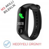 M3 Akıllı Bileklik Saat Renkli Ekran Nabız Ölçer A...