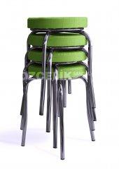 Tabure (4 Adet Set) Yeşil Renk
