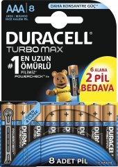 Duracell Turbomax Alkalin Aaa İnce Kalem Pil 8li P...
