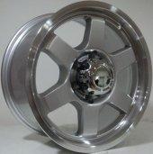 Bk 5215 8 X 16 6x130 Et35 84.1 Silver Lip...