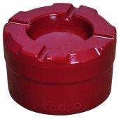 Foxipo Alüminyum Döner Kül Tablası Küllük Bordo Rengi Köşeli Model
