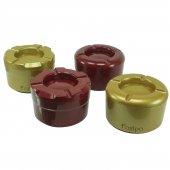 Foxipo Alüminyum Döner Kül Tablası / Küllük - Bordo Rengi Köşeli Model-2