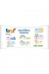 Uni Baby Oyna Öğren 12'li Islak Mendil - Puzzle Hediyeli