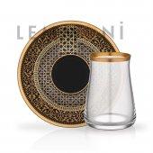 Glore Tarabya Çay Seti 6lı Efe Mat Altın