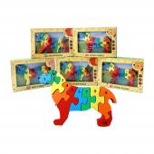 Bemi 1987 3d Rakamlı Köpek Puzzle