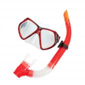 Bestway 24005 Silikon Maske Ve Şnorkel Set Kırmızı Siyah
