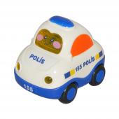 Birlik Yb 094989 Sürtmeli Sesli Mini Polis Arabası
